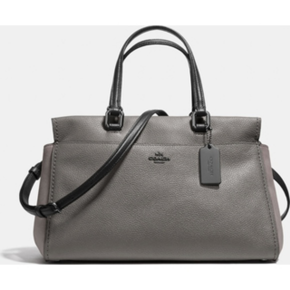 6712cdbfb2bf ⬇⬇Coach Fulton Satchel in Colorblock Heather Gray